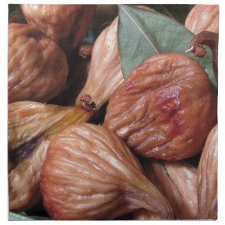 Servilleta De Tela Frutas del otoño. Primer de higos secados con las