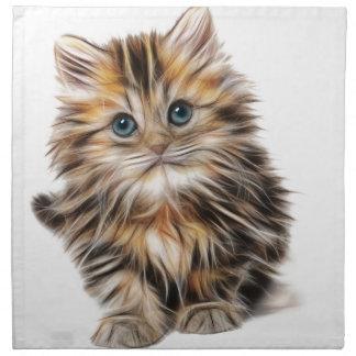 Servilleta De Tela gama del diseño del fractal del gatito