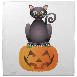 Servilleta De Tela Gato de Halloween que se sienta en el ilustracion