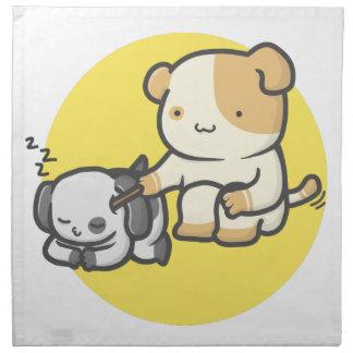 Servilleta De Tela Gato y perro