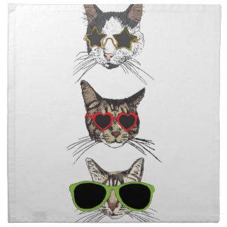 Servilleta De Tela Gatos que llevan las gafas de sol