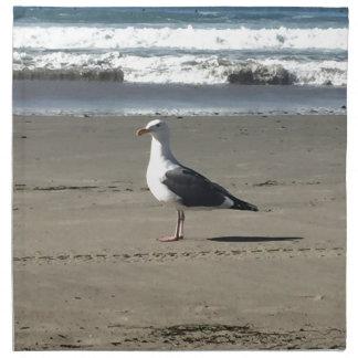 Servilleta De Tela Gaviota en la playa