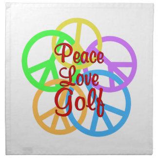 Servilleta De Tela Golf del amor de la paz