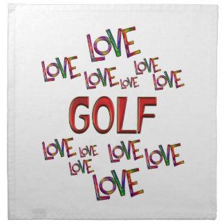 Servilleta De Tela Golf del amor del amor
