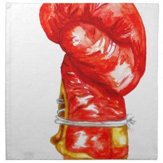 Servilleta De Tela Guante de boxeo rojo