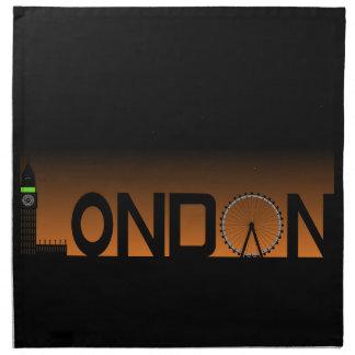 Servilleta De Tela Horizonte de Londres