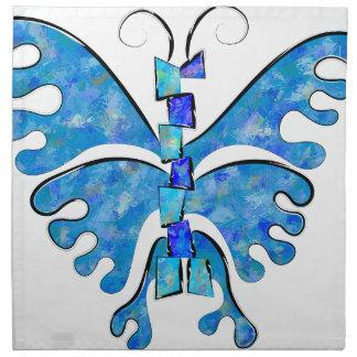 Servilleta De Tela Icelonius - mariposa azul del hielo