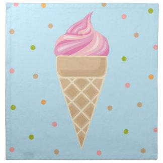 Servilleta De Tela Ilustracion rosado del helado del vintage