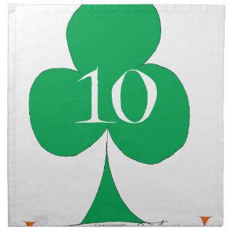 Servilleta De Tela Irlandés afortunado 10 de los clubs, fernandes