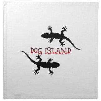 Servilleta De Tela Isla la Florida del perro