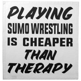 Servilleta De Tela Jugar la lucha de sumo es más barato que terapia