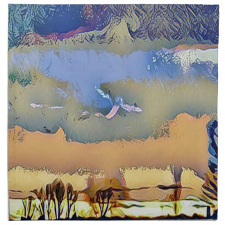 Servilleta De Tela La caída ligera colorida entonó el cielo abstracto