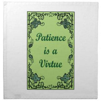 Servilleta De Tela La paciencia es una virtud