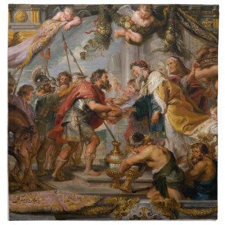 Servilleta De Tela La reunión de Abraham y del arte de Melchizedek
