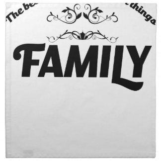 Servilleta De Tela las mejores cosas de la vida son familia