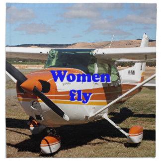 Servilleta De Tela Las mujeres vuelan: aviones de ala alta