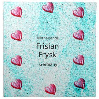 Servilleta De Tela Lengua del Frisian (Alemania y Países Bajos)