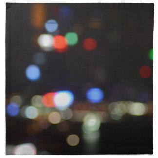 Servilleta De Tela Luces borrosas de la noche de Hong Kong