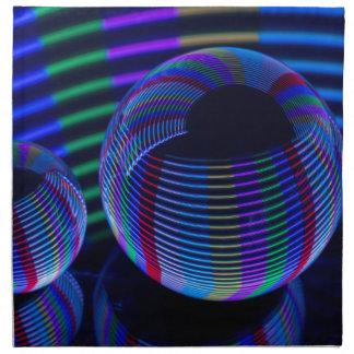 Servilleta De Tela Luces espirales en el cristal