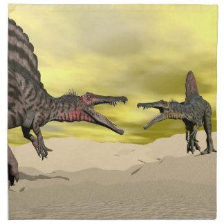 Servilleta De Tela Lucha del dinosaurio de Spinosaurus - 3D rinden