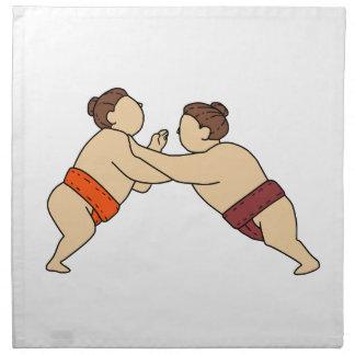 Servilleta De Tela Luchador del sumo de Rikishi que empuja la mono
