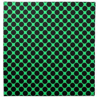 Servilleta De Tela Lunares negros en verde del kiwi