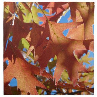 Servilleta De Tela Luz del sol a través de las hojas de otoño