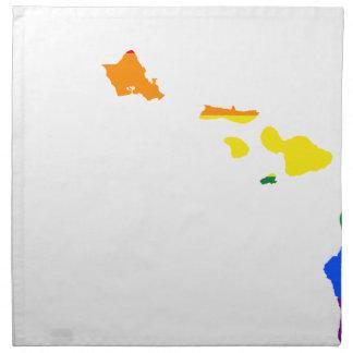 Servilleta De Tela Mapa de la bandera de Hawaii LGBT