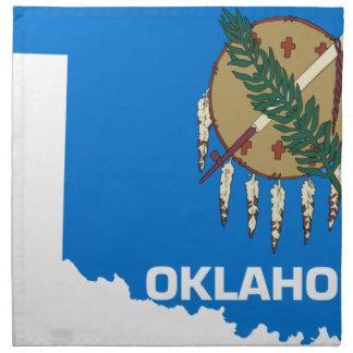 Servilleta De Tela Mapa de la bandera de Oklahoma