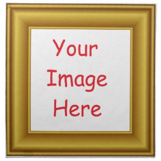 Servilleta De Tela Marco personalizado personalizado de la imagen y