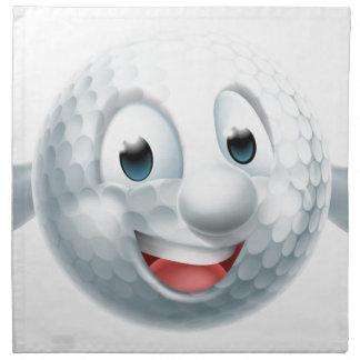 Servilleta De Tela Mascota de la pelota de golf del dibujo animado