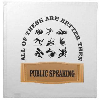 Servilleta De Tela mejore entonces el discurso público