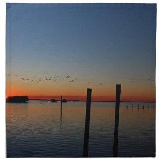 Servilleta De Tela Migración de la puesta del sol