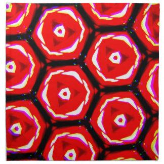 Servilleta De Tela Modelo del panal del estilo del rosa rojo