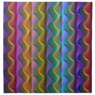 Servilleta De Tela Modelo psicodélico colorido brillante