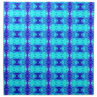 Servilleta De Tela Modelo tribal azul de neón colorido del azul real