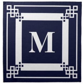 Servilleta De Tela Monograma azul