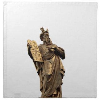 Servilleta De Tela Moses y diez mandamientos de oro