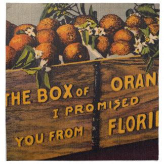 Servilleta De Tela Naranjas retros de la Florida del vintage