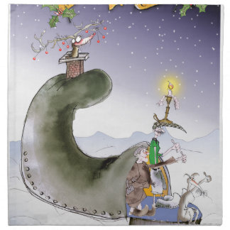 Servilleta De Tela Navidad de Yorkshire del amor felices