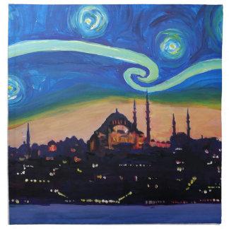 Servilleta De Tela Noche estrellada en Estambul Turquía