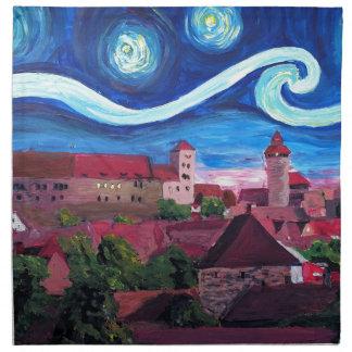 Servilleta De Tela Noche estrellada en Nuremberg Alemania con el