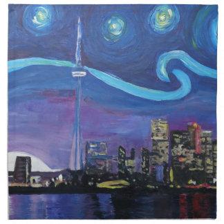 Servilleta De Tela Noche estrellada en Toronto con las inspiraciones
