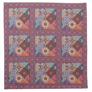 Servilleta De Tela Ornamento de Talavera del mosaico del vintage