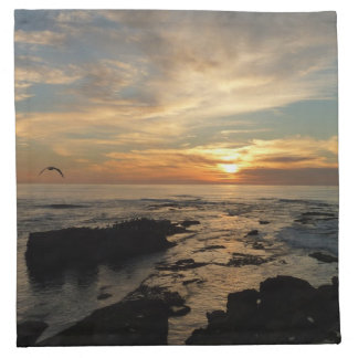 Servilleta De Tela Paisaje marino de la puesta del sol I California