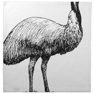 Servilleta De Tela Pájaro del Emu