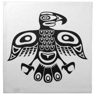 Servilleta De Tela Pájaro nativo del tótem