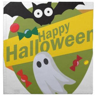 Servilleta De Tela Palos y fantasmas del feliz Halloween