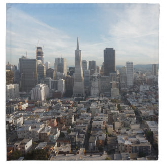 Servilleta De Tela Panorama del horizonte de San Francisco