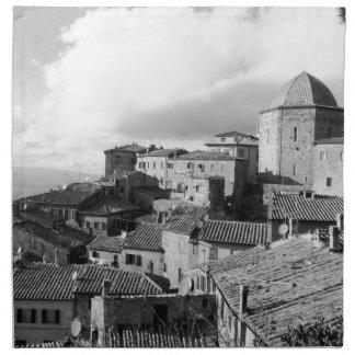 Servilleta De Tela Panorama del pueblo de Volterra, provincia de Pisa